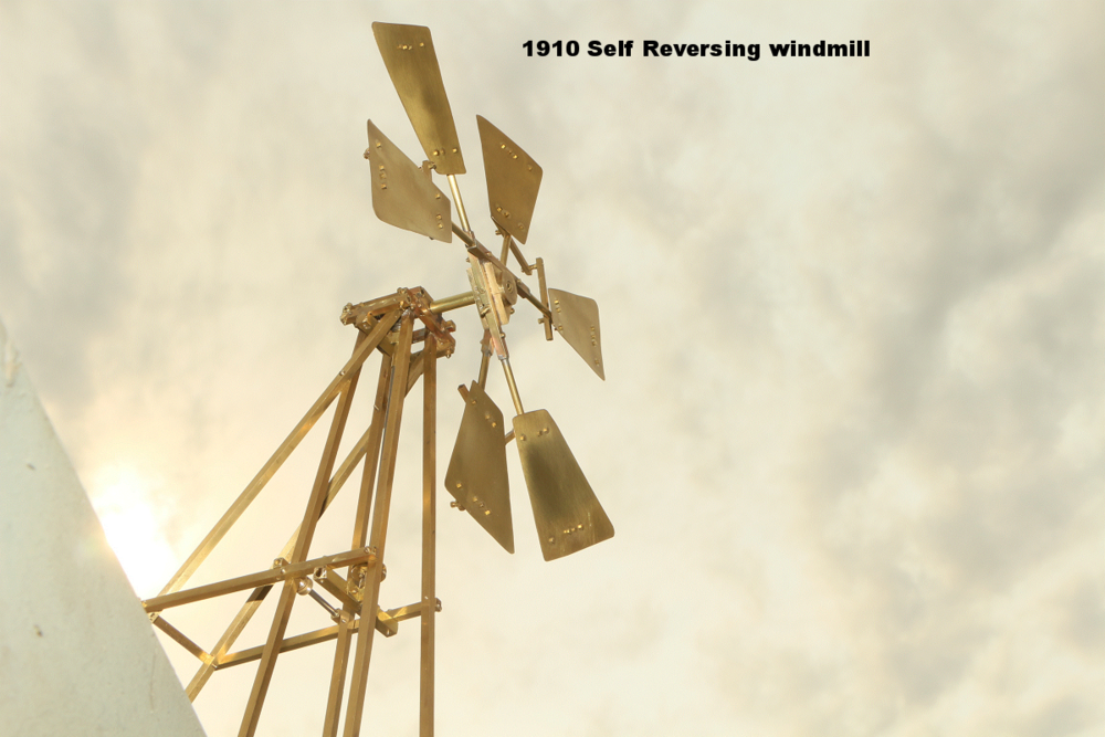 scale model 1910 self reversing windmill