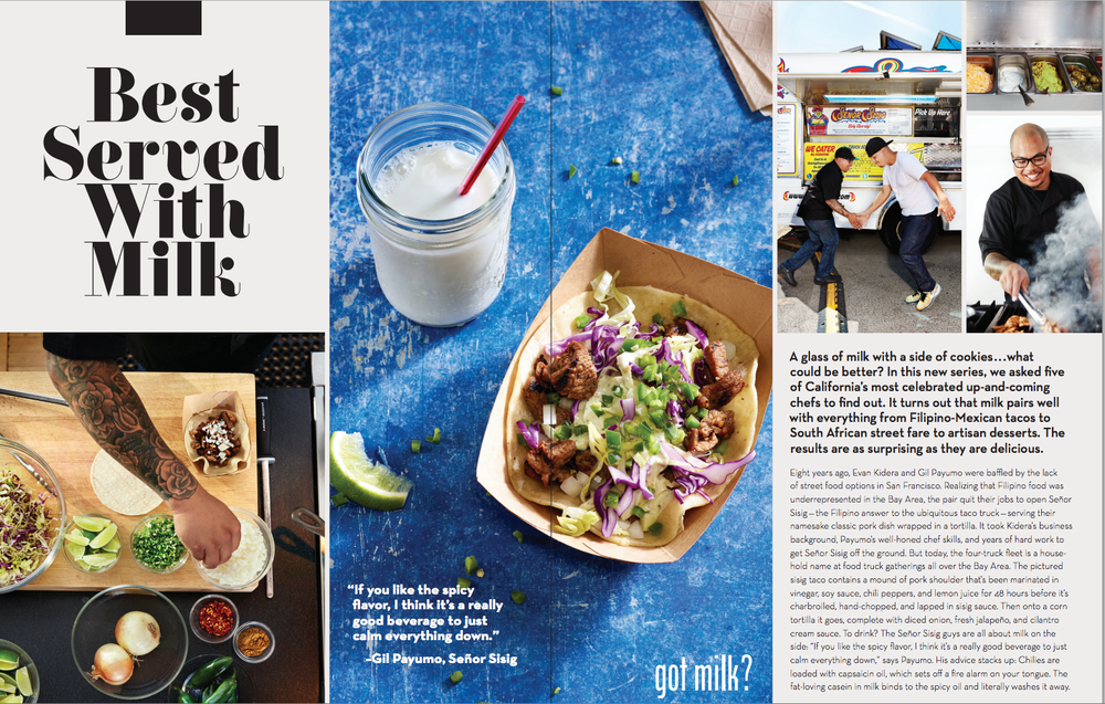 california sunday magazine + got milk story advertisement / photograph by maren caruso