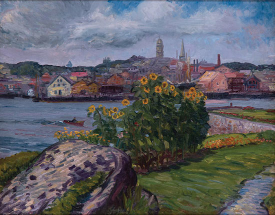 Image: John Sloan (1871-1951), Sunflowers, Rocky Neck, 1914. Oil on canvas. Gift of Alfred Mayor and Martha M. Smith, 2008. [2008.14]