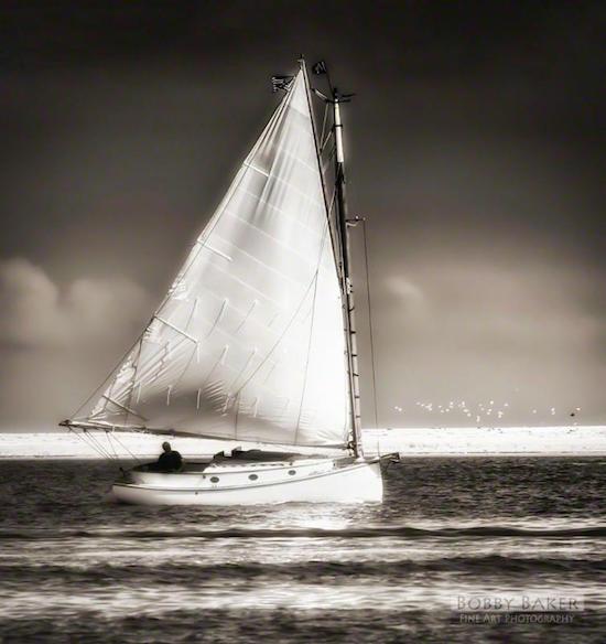 """Sailing Off Morris Island (Chatham, Cape Cod)''"