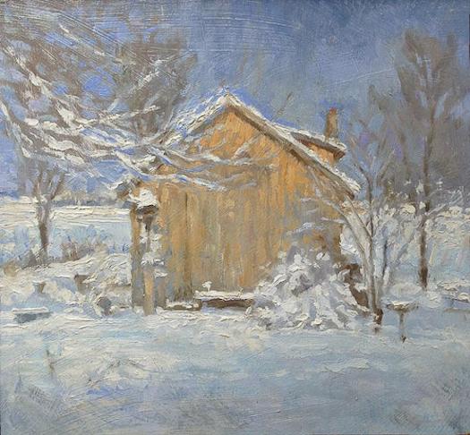 """Winter Studio'' (oil on masonite), by MICHAEL DOYLE"