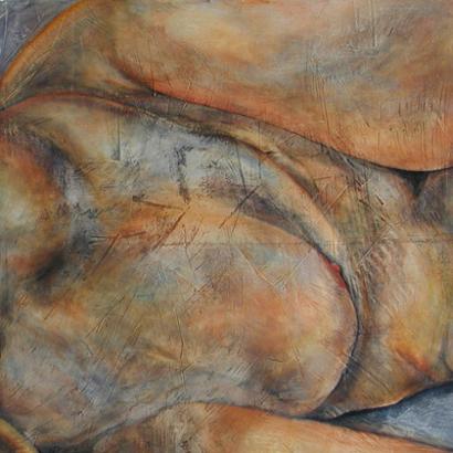 """Bodyscape'' (oil on plaster), by BETSYANN DUVAL"