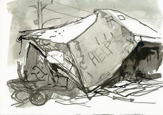 """New Orleans Sketchbook, March 1-17, 2007, Lower Ninth Ward"
