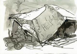 """New Orleans Sketchbook, March 1-17, 2007, Lower Ninth Ward"