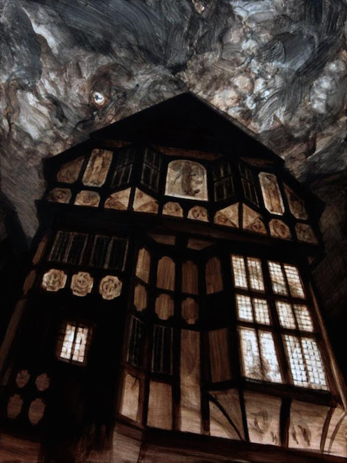 """Dream Work of Thomas Street'' (acrylic on panel), by SHAWN KENNEY"