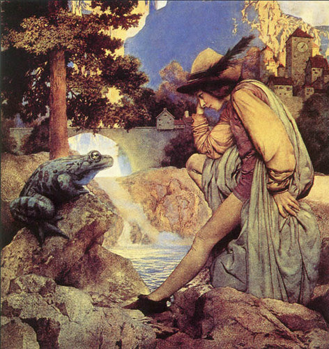 """Frog Prince,'' by MAXFIELD PARRISH"