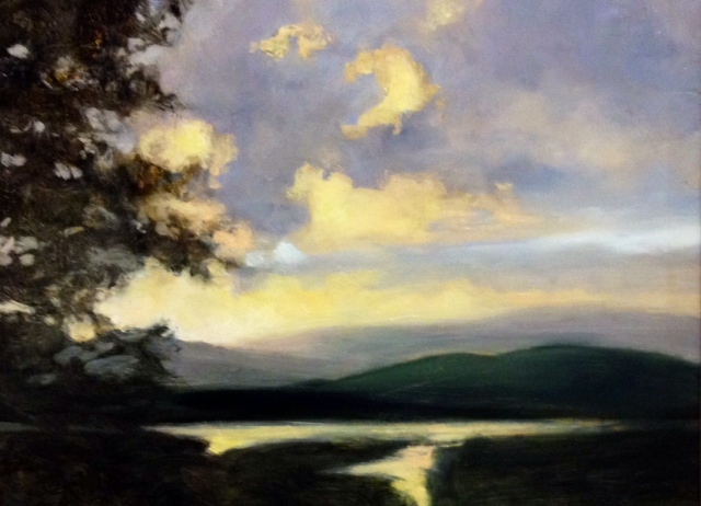"""You Don't Say'' (oil on panel), by JULIA PURINTON"