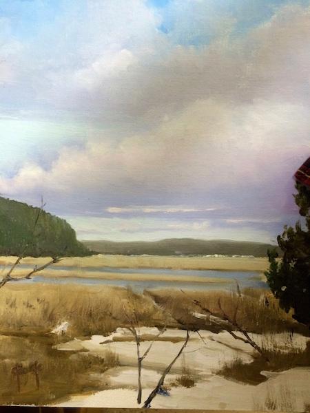 """Snowy Beach,'' by PAUL GEORGE"