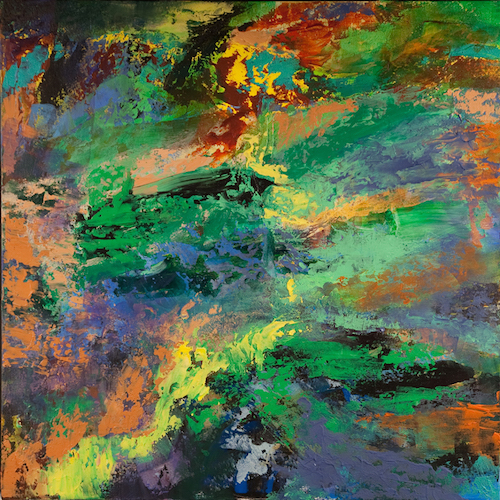 """Elevation'' (acryllic on canvas), by Diane Novetsky, in her show 'EARTHSHIFTER"