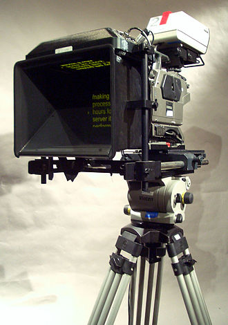 Teleprompter.