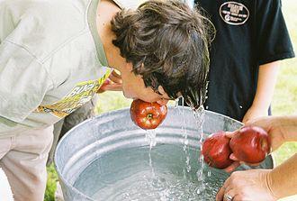 Bobbing for apples.