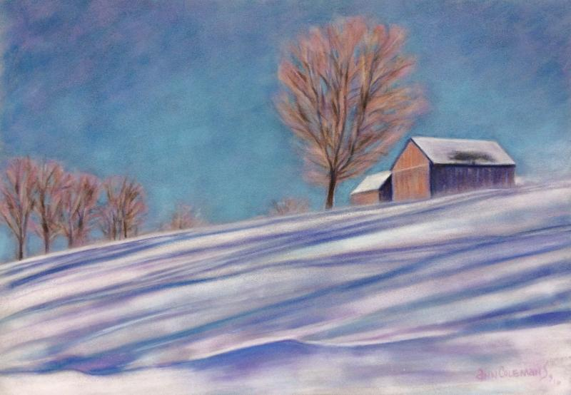 """Windswept'' (pastel), by Ann Coleman, at Ann Coleman Gallery, Wilmington, Vt."