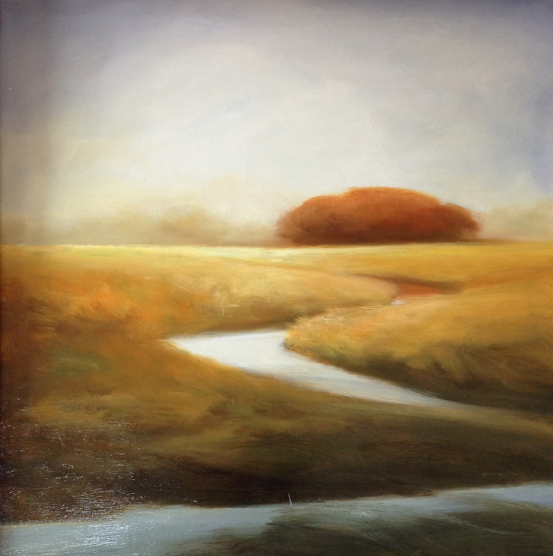 """""""Oak Island'' (oil on canvas), by Judy Purinton, at Alpers Fine Art, North Andover, Mass."""