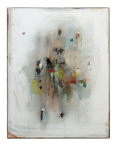 """Fragments'' (oil on canvas), by Mirela Kiloviv, at Bromfield Gallery, Boston, through Feb. 26."