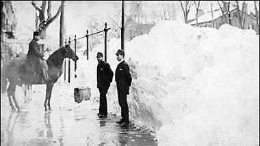 A scene in Middletown, Conn., just after the Blizzard of '88, still considered by many to be southern New England's most fabled  such storm, dumped more than 50 inches in some places on March 11-14, 1888.