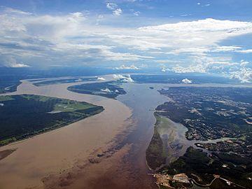Over Brazil's Amazonia.