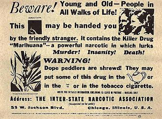Anti-marijuana-use poster from 1935.