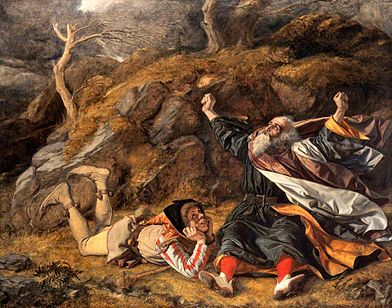 """""""King Lear and the Fool in the Storm,''  by William Dyce."""