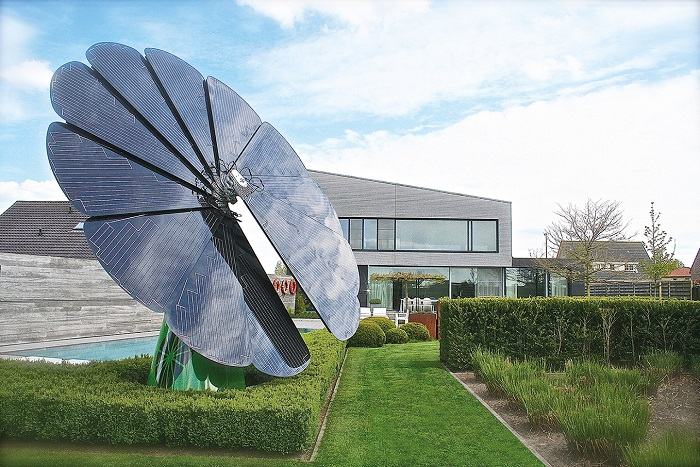 A Smartflower home solar-energy device. Smartflower's American operations are based in Boston.