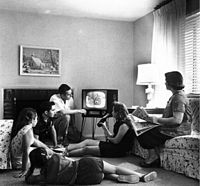 The new family hearth: TV in the 1950s.
