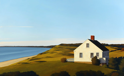 """Hopper's House'' (oil on canvas), by Jim Holland,  in the show ""Up Close and Personal: 2017 Season,'' at the Heritage Museum and Gardens,  Sandwich, Mass., through Oct. 9. The title is an obvious reference to the late long-time Cape Cod summer resident and New York-based painter Edward Hopper."