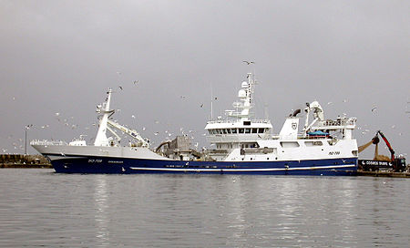 Irish fishing trawler.