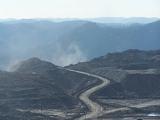 Mountaintop removal of coal in Appalachia.