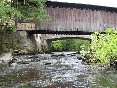 The Contoocook River flows through a village of the same name in Hopkinton, N.H.