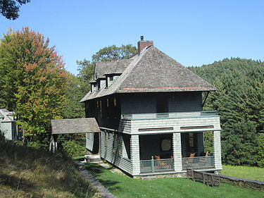 Th Rudyard Kipling House, in Dummerston, Vt., where he lived in 1893-96 and wrote some of his famous works.