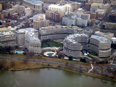 The Watergate complex in Washington, scene of the break-in that led to the downfall of President Nixon.