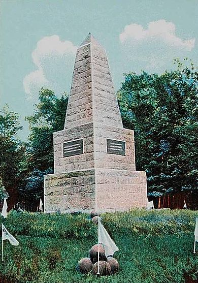 Soldiers' Monument, at Togus National Cemetery, Togus, Maine, as it appeared around 1906.