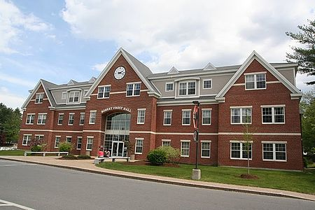 Robert Frost Hall at Southern New Hampshire University's main campus in Manchester. The poet himself attended Dartmouth College and Harvard University but didn't graduate from either. He lived in New Hampshire for much of his life.