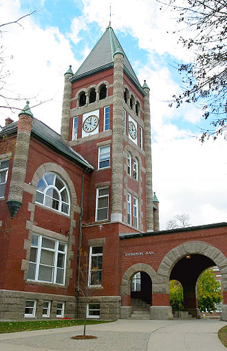 Thompson Hall (1892), at UNH.