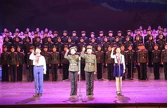 Obedient North Korea kids perform. Failure to obey the regime can get you killed.