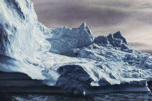 """Greenland, no. 63,'' by Zaria Forman, in her August show at the Dedee Shattuck Gallery, Westport, Mass."