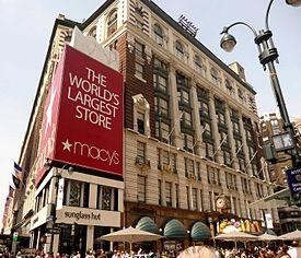 Macy's flagship store in Manhattan.