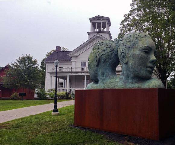 """""""Morpheous' (bronze), by Lionel Smith, in the group show """"Exposed,''at the Helen Day Art Center, Stowe, Vt., through Oct. 21."""