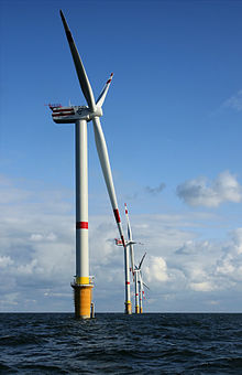 Rare earths are used in the manufacturing of wind turbines.