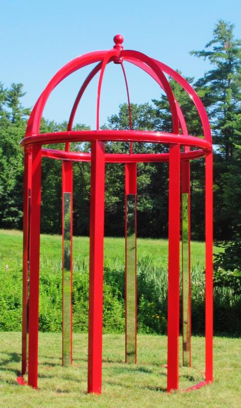 """Sun Pavillon'' (powdered coated aluminum), by Murry Dewart, in the ""20th Annual Outdoor Sculpture Exhibit,'' through Oct. 15 at the Mill Brook Gallery & Sculpture Garden, in Concord, N.H."