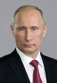 The friendly face of Vladimir Putin.