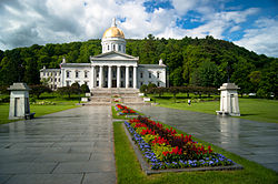 The Vermont State House, in Montpelier -- the smallest state capital, with only about 7,900 residents.