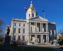 The New Hampshire State House, built in 1816-19. Public-building architects in the 19th Century loved golden tops.