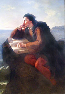 The Inspiration of Christopher Columbus,  by  José María Obregón , 1856.