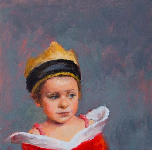 """The Queen"" (oil on panel), by Kathryn Geismar, in the show, through Oct. 14,  of winners of the ""18th Annual Frances N. Roddy Open Art Competition'' at the Concord (Mass.) Center for the Visual Arts."