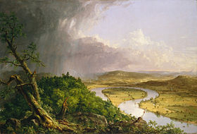 """View of the Connecticut River Oxbow from Mount Holyoke summit,'' painted by  Thomas Cole  in 1836."