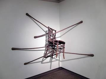 "A creation of David Katz in his show ""Flextime,'' at the Museum of Art at the University of New Hampshire (in Durham), through Nov. 7. The show is a collaboration between the museum and 3S Artspace, in nearby Portsmouth."