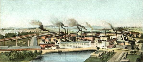 """American Steel & Wire Co., Worcester, about 1905. Worcester used to be nicknamed """"The Pittsburgh of New England''."""