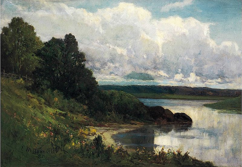 The Palmer River (oil), by Edward Mitchell Bannister (1828-1901).