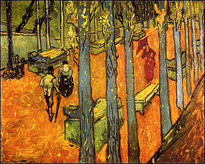''Falling Autumn Leaves'' (oil), by Vincent van Gogh.