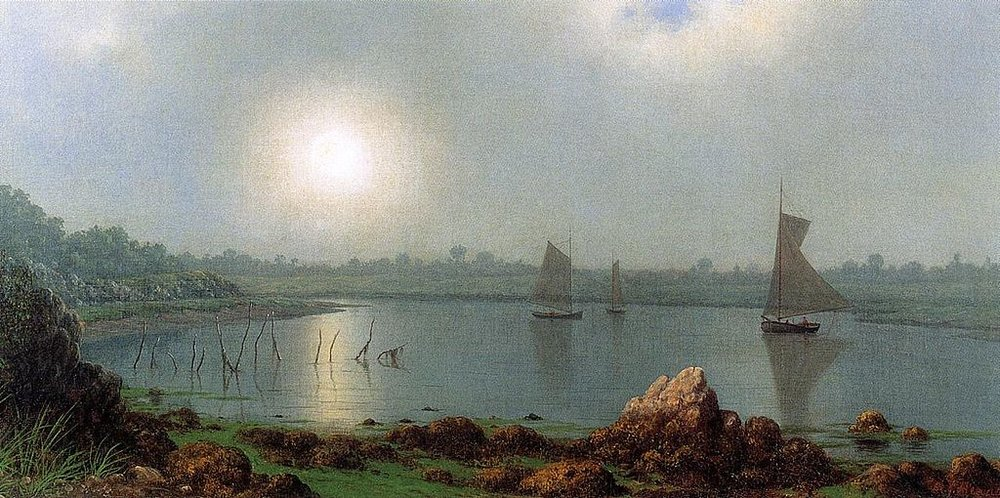 """""""York Harbor, Coast of Maine'' (1877), by Martin Johnson Heade."""